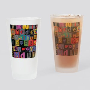 ABCDEFG Drinking Glass