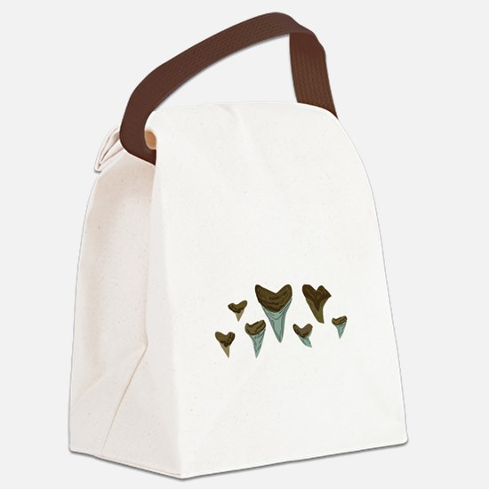 Shark Teeth Canvas Lunch Bag