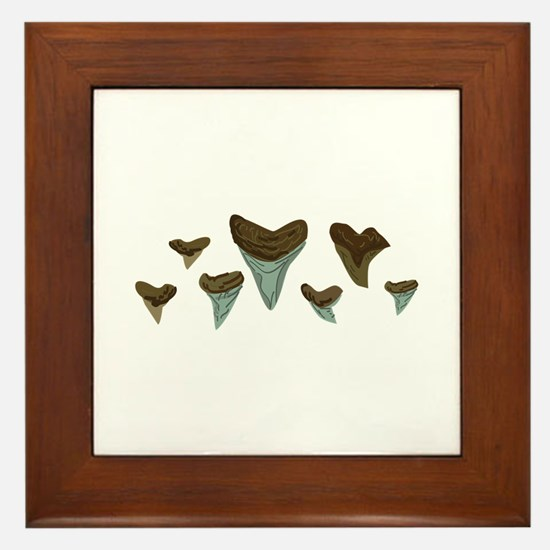 Shark Teeth Framed Tile
