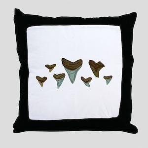 Shark Teeth Throw Pillow