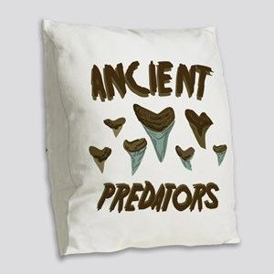 Ancient Predators Burlap Throw Pillow