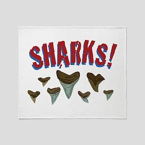 Sharks Teeth Throw Blanket