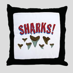 Sharks Teeth Throw Pillow