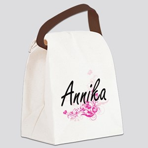 Annika Artistic Name Design with Canvas Lunch Bag