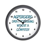 Aspergers Geek Wall Clock