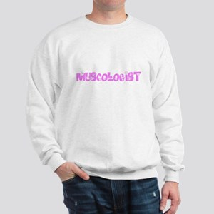 Muscologist Pink Flower Design Sweatshirt