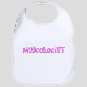 Muscologist Pink Flower Design Baby Bib