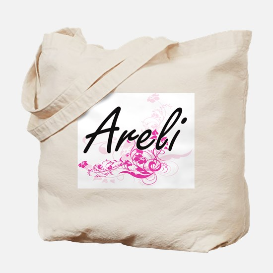 Areli Artistic Name Design with Flowers Tote Bag