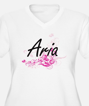 Aria Artistic Name Design with F Plus Size T-Shirt