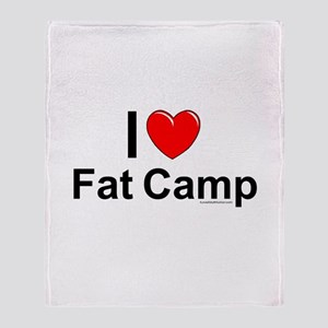 Fat Camp Throw Blanket