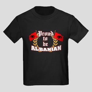 Proud to be Albanian Kids Dark T-Shirt