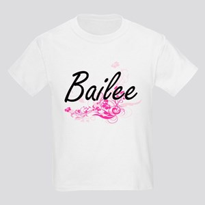 Bailee Artistic Name Design with Flowers T-Shirt