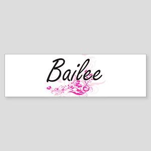 Bailee Artistic Name Design with Fl Bumper Sticker