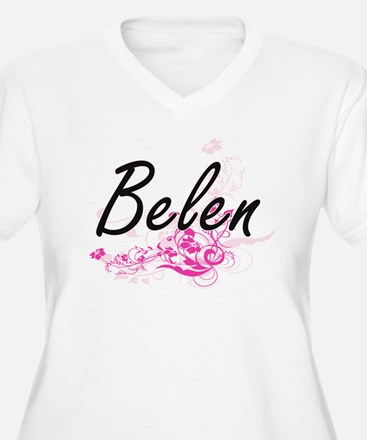 Belen Artistic Name Design with Plus Size T-Shirt