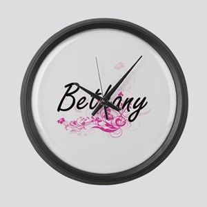 Bethany Artistic Name Design with Large Wall Clock
