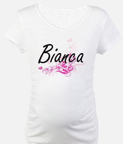 Bianca Artistic Name Design with Shirt