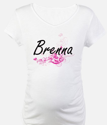 Brenna Artistic Name Design with Shirt
