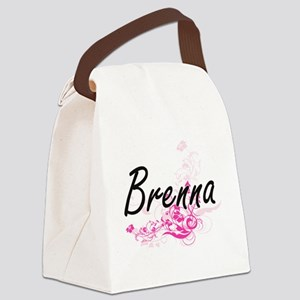 Brenna Artistic Name Design with Canvas Lunch Bag