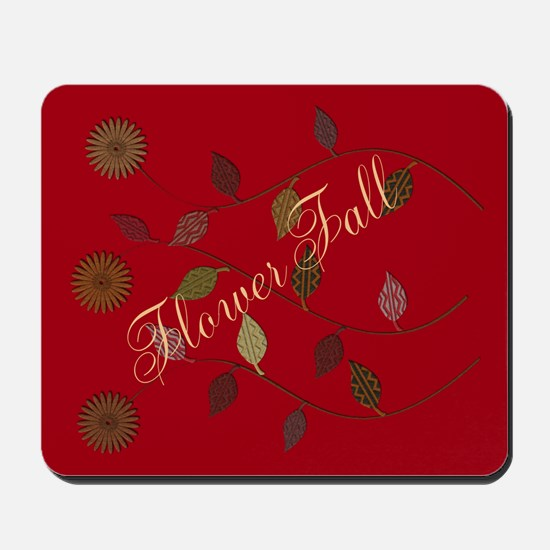 Chic Floral Fall Mousepad