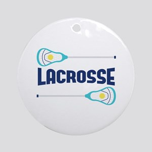 Lacrosse Round Ornament