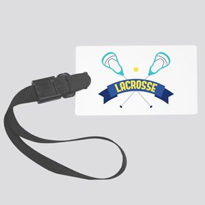 Lacrosse Sticks Luggage Tag