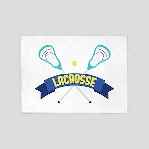 Lacrosse Sticks 5'x7'Area Rug