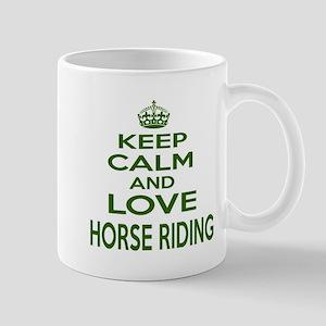 Keep calm and love Horse Riding 11 oz Ceramic Mug
