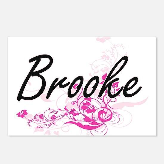 Brooke Artistic Name Desi Postcards (Package of 8)