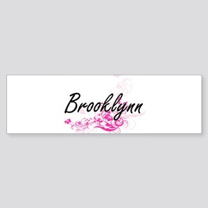 Brooklynn Artistic Name Design with Bumper Sticker