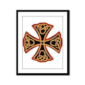 Christian Celtic Cross Framed Panel Print