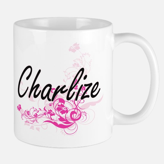 Charlize Artistic Name Design with Flow Mugs