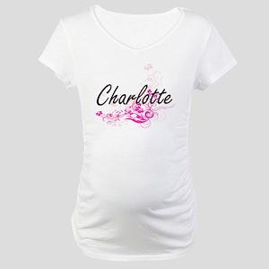 Charlotte Artistic Name Design w Maternity T-Shirt