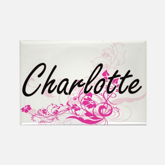Charlotte Artistic Name Design with Flower Magnets