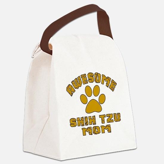 Awesome Shih Tzu Mom Dog Designs Canvas Lunch Bag