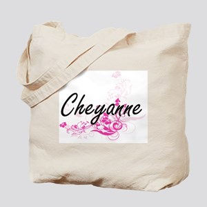 Cheyanne Artistic Name Design with Flower Tote Bag