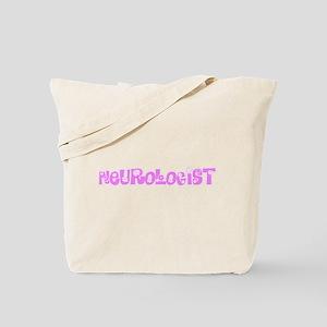 Neurologist Pink Flower Design Tote Bag