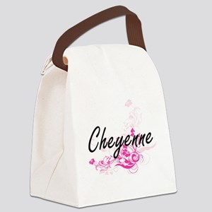 Cheyenne Artistic Name Design wit Canvas Lunch Bag