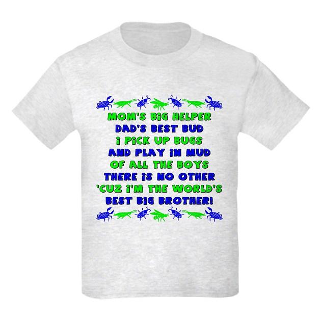 Best Big Brother Kids Light T-Shirt Best Big Brother T ...
