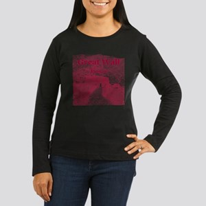 Beijing Women's Long Sleeve Dark T-Shirt