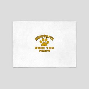 Awesome Shih Tzu Mom Dog Designs 5'x7'Area Rug