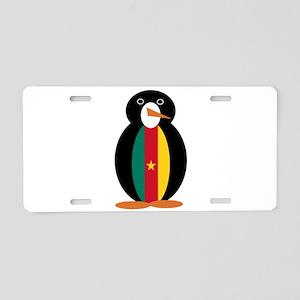 Penguin of Cameroon Aluminum License Plate