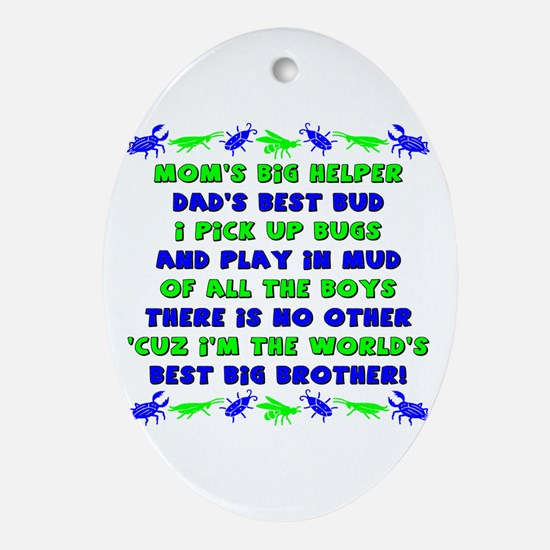 Best Big Brother Oval Ornament