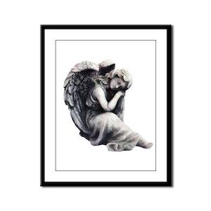 Resting Angel Framed Panel Print
