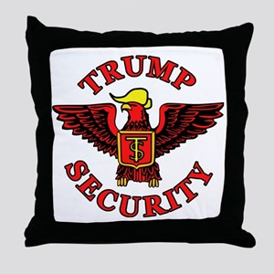 Trump Election Security Throw Pillow