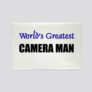 Worlds Greatest CAMERA MAN Rectangle Magnet