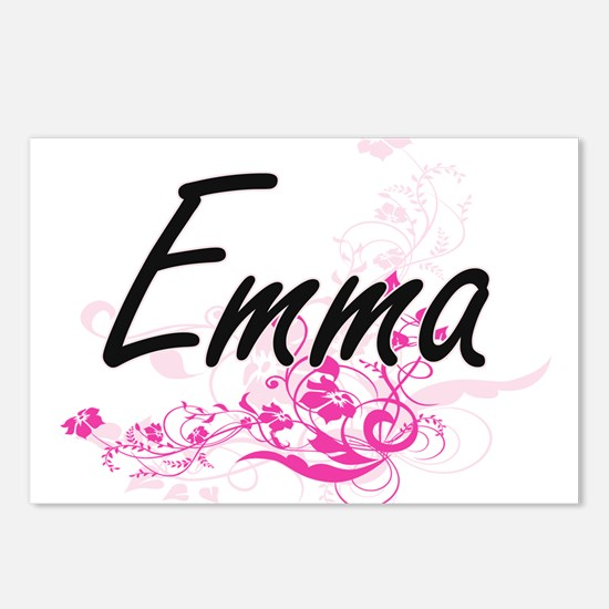 Emma Artistic Name Design Postcards (Package of 8)