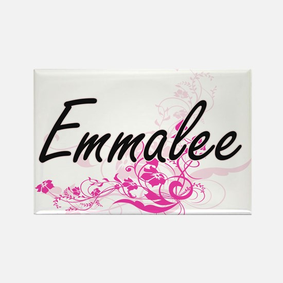 Emmalee Artistic Name Design with Flowers Magnets