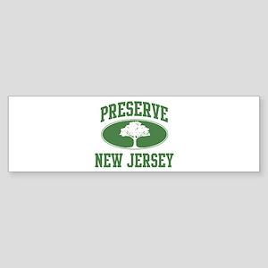 Preserve New Jersey Bumper Sticker