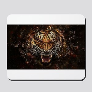 TIger on fire Mousepad