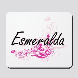 Esmeralda Artistic Name Design with Flow Mousepad